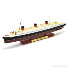 Modelli in scala: SS NORMANDIE TRANSATLANTICO 1:1250 OCEAN LINERS BARCO ATLAS DIECAST. Lote 215020912