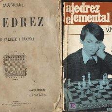 Coleccionismo deportivo: LOTE DE 2: MANUAL DE AJEDREZ PALUZIE Y LUCENA. FINALES + AJEDREZ ELEMENTAL PANOV. Lote 23695057