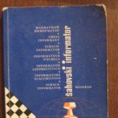 Coleccionismo deportivo: AJEDREZ. CHESS INFORMATOR. XXI TOMO. BEOGRAD 1976.. Lote 26980565