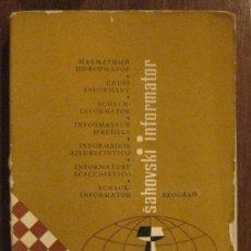 Coleccionismo deportivo: AJEDREZ. CHESS INFORMATOR TOMO XX. BEOGRAD 1976.. Lote 26980936