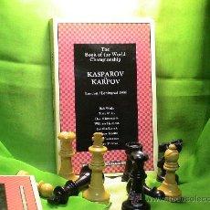 Coleccionismo deportivo: AJEDREZ. CHESS. THE BOOK OF THE WORLD CHAMPIONSHIP. KASPAROV-KARPOV. LONDON-LENINGRAD 1986 DESCATALO. Lote 27776424