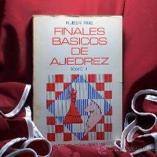 Coleccionismo deportivo: FINALES BÁSICOS DE AJEDREZ. TOMO I - RUBEN FINE DESCATALOGADO!!!. Lote 35833181