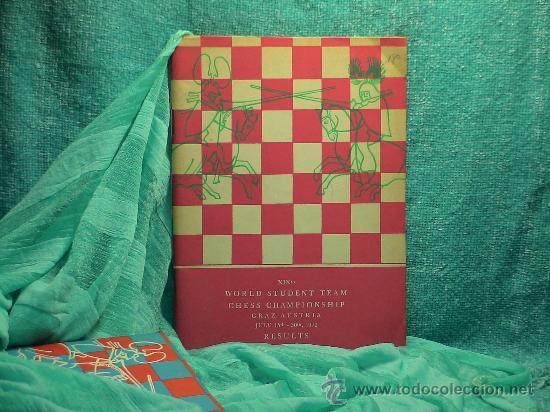 AJEDREZ. XIXTH WORLD STUDENT TEAM CHESS CHAMPIONSHIP 1972 - JAROSLAV SAJTAR DESCATALOGADO!!! (Coleccionismo Deportivo - Libros de Ajedrez)