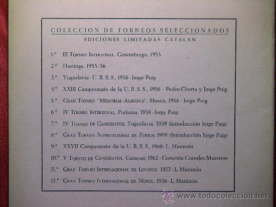 Coleccionismo deportivo: Ajedrez. Chess. IV Torneo Internacional Costa del Sol. Málaga 1964 DESCATALOGADO!!! - Foto 2 - 28142952