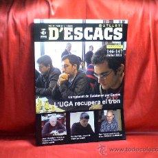 Coleccionismo deportivo: AJEDREZ. CHESS. BUTLLETI D'ESCACS 146-147 JULIOL 2011 DESCATALOGADO!!!. Lote 28673966