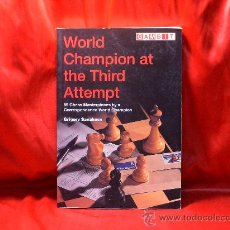 Coleccionismo deportivo: AJEDREZ. CHESS. WORLD CHAMPION AT THE THIRD ATTEMPT - GRIGORY SANAKOEV. Lote 28083156