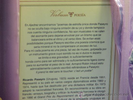 Coleccionismo deportivo: Ajedrez - Ricardo Paseyro - Foto 3 - 32659530