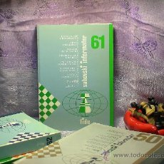 Coleccionismo deportivo: AJEDREZ. INFORMADOR AJEDRECÍSTICO - SAHOVSKI INFORMATOR 61 VI-IX 1994 DESCATALOGADO!!!. Lote 29806422