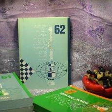 Coleccionismo deportivo: AJEDREZ. INFORMADOR AJEDRECÍSTICO - SAHOVSKI INFORMATOR 62 X 1994-I 1995. Lote 28318097