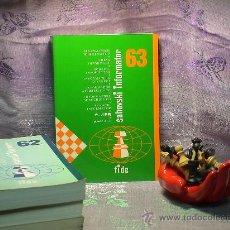 Coleccionismo deportivo: AJEDREZ. INFORMADOR AJEDRECÍSTICO - SAHOVSKI INFORMATOR 63 II-V 1995. Lote 28318108