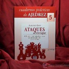 Coleccionismo deportivo: CHESS. CUADERNOS PRÁCTICOS DE AJEDREZ Nº 5 ATAQUES AL ENROQUE - ANTONIO GUDE. Lote 58120475