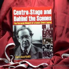 Coleccionismo deportivo: AJEDREZ. CHESS. CENTRE-STAGE AND BEHIND THE SCENES - YURI AVERBAKH. Lote 28753903