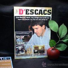 Coleccionismo deportivo: AJEDREZ. BUTLLETI D'ESCACS 139 - JULIOL 2009 DESCATALOGADO!!!. Lote 28797606