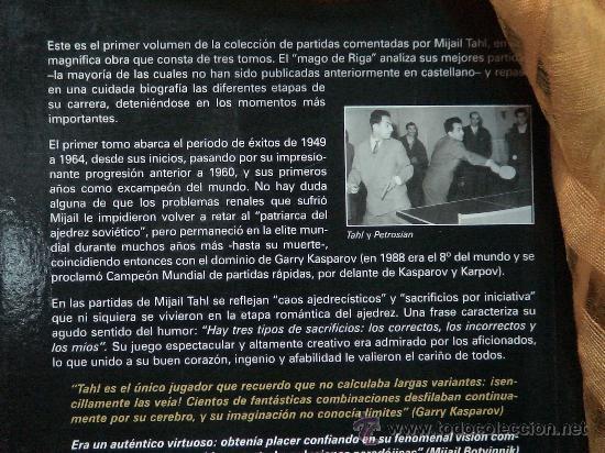 Coleccionismo deportivo: Ajedrez. Magia en el tablero (Volúmen 1) Partidas inéditas (1949-1964) - Mijail Tahl - Foto 5 - 29590931
