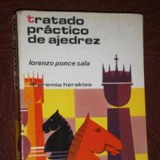 Coleccionismo deportivo - Tratado práctico de ajedrez por Lorenzo Ponce Sala de Ed. Hispano Europea en Barcelona 1978 - 30154765