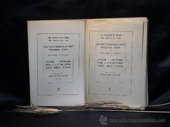 GRAN TORNEO INTERNACIONAL DE AJEDREZ PRESIDENTE PERON. BUENOS AIRES 1955 (BOLETINES) DESCATALOGADO!! (Coleccionismo Deportivo - Libros de Ajedrez)