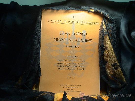 AJEDREZ. CHESS. GRAN TORNEO MEMORIAL ALEKHINE. MOSCU 1956 - JORGE PUIG DESCATALOGADO!!! (Coleccionismo Deportivo - Libros de Ajedrez)