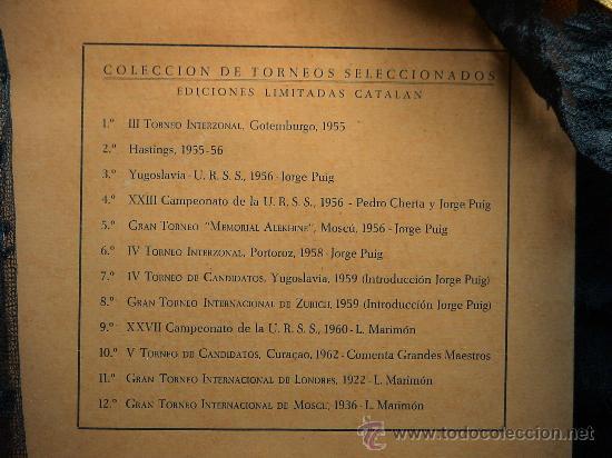 Coleccionismo deportivo: Ajedrez. Chess. Gran Torneo Memorial Alekhine. Moscu 1956 - Jorge Puig DESCATALOGADO!!! - Foto 5 - 40736614