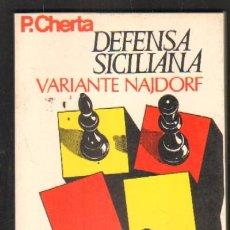 Coleccionismo deportivo: DEFENSA SICILIANA VARIANTE NAJDORF A-AJD-402. Lote 31786092