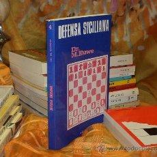 Coleccionismo deportivo: AJEDREZ. DEFENSA SICILIANA - MAX EUWE DESCATALOGADO!!!. Lote 32122220