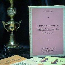 Coleccionismo deportivo: AJEDREZ.TORNEO SEXTANGULAR BUENOS AIRES-LA PLATA 1947 - ARNOLDO ELLERMAN DESCATALOGADO!!!. Lote 32370224