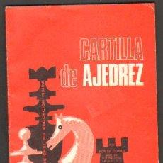 Coleccionismo deportivo: CARTILLA DE AJEDREZ A-AJD-432. Lote 32467117