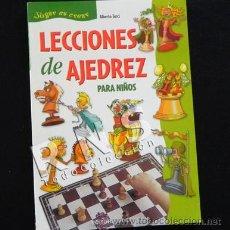 Coleccionismo deportivo: LECCIONES DE AJEDREZ PARA NIÑOS - JUEGO ESTRATEGIA DEPORTE MENTAL LIBRO INFANTIL JUVENIL ILUSTR.. Lote 32495752