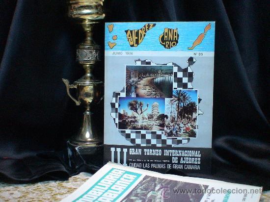 CHESS. III GRAN TORNEO INTERNACIO DE AJEDREZ CIUDAD LAS PALMAS DE GRAN CANARIA 1974 DESCATALOGADO!!! (Coleccionismo Deportivo - Libros de Ajedrez)