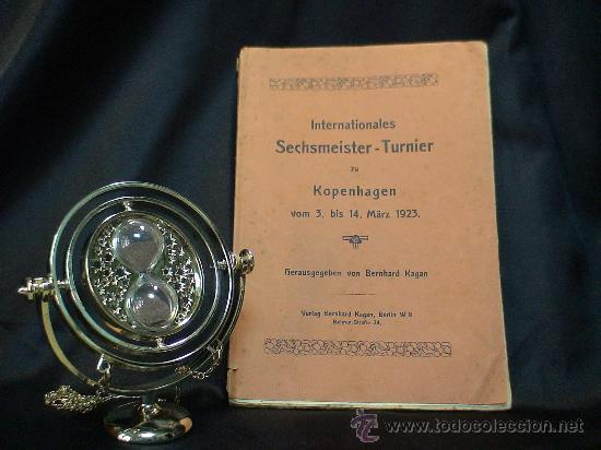 AJEDREZ. SCHACH. CHESS. INTERNAT SECHMEISTER - TURNIER ZU KOPENHAGEN 1923 - BERNHARD KAGAN DESCATALO (Coleccionismo Deportivo - Libros de Ajedrez)