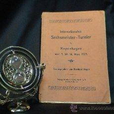 Coleccionismo deportivo: AJEDREZ. SCHACH. CHESS. INTERNAT SECHMEISTER - TURNIER ZU KOPENHAGEN 1923 - BERNHARD KAGAN DESCATALO. Lote 32763813