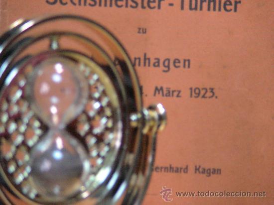 Coleccionismo deportivo: Ajedrez. Schach. Chess. Internat Sechmeister - Turnier zu Kopenhagen 1923 - Bernhard Kagan DESCATALO - Foto 2 - 32763813