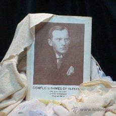 Coleccionismo deportivo: AJEDREZ. CHESS. COMPLETE GAMES OF ALEKHINE 1.VOLUME: 1892-1921 - JAN KALENDOVSKY/VLASTIMIL FIALA DES. Lote 32852395