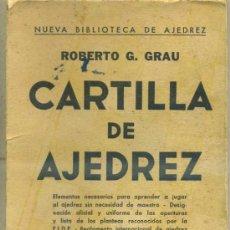 Coleccionismo deportivo: ROBERTO GRAU : CARTILLA DE AJEDREZ (SOPENA, 1952). Lote 33037223