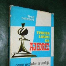 Coleccionismo deportivo: TERCER LIBRO DE AJEDREZ, DE FRED REINFELD. Lote 179137141