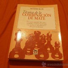 Coleccionismo deportivo: ANTONIO GUDE, TECNICA DE LA COMBINACION DE MATE. Lote 34942638