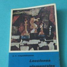 Coleccionismo deportivo: LECCIONES ELEMENTALES DE AJEDREZ. J.R. CAPABLANCA. Lote 35486346