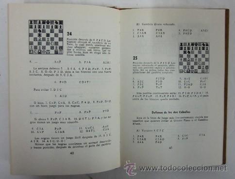Coleccionismo deportivo: CUARTO LIBRO DE AJEDREZ - APERTURAS DE PEON REY Y PEON DAMA - Foto 3 - 35610430