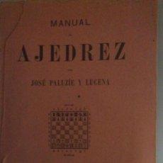 Coleccionismo deportivo: MANUAL AJEDREZ PRELIMINARES PALUZIE 1939. Lote 35846803