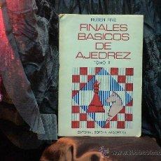 Coleccionismo deportivo: FINALES BÁSICOS DE AJEDREZ. TOMO II - RUBEN FINE DESCATALOGADO!!!. Lote 35921117