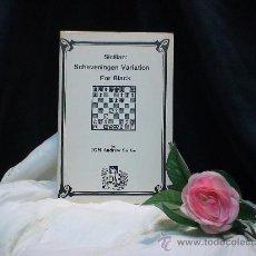 Coleccionismo deportivo: AJEDREZ. CHESS. SICILIAN: SCHEVENINGEN VARIATION FOR BLACK - ANDREW SOLTIS DESCATALOGADO!!!. Lote 98187915