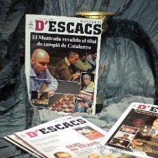 Coleccionismo deportivo: AJEDREZ. BUTLLETI D'ESCACS 131 - JULIOL 2007 DESCATALOGADO!!!. Lote 36434506