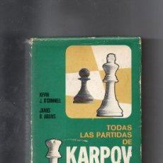 Coleccionismo deportivo: TODAS LAS PARTIDAS DE KARPOV. Lote 36637375