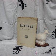 Coleccionismo deportivo: AJEDREZ REVISTA MENSUAL (ARGENTINA) 1957. AÑO COMPLETO 12 NUMEROS DESCATALOGADO!!!. Lote 36780637