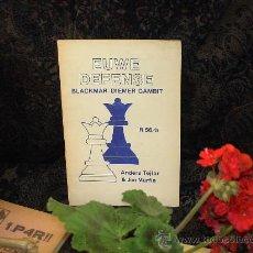 Coleccionismo deportivo: AJEDREZ. CHESS. THE EUWE DEFENSE. BLACKMAR-DIEMER GAMBIT - ANDERS TEJLER/JIM MARFIA DESCATALOGADO!!!. Lote 36977827
