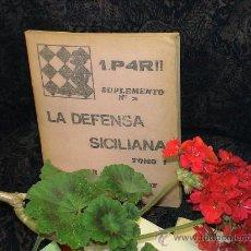 Coleccionismo deportivo: AJEDREZ. 1.P4R!! LA DEFENSA SICILIANA. TOMO I - MOISÉS STUDENETZKY DESCATALOGADO!!!. Lote 36984965