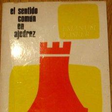 Coleccionismo deportivo: EL SENTIDO COMÚN EN AJEDREZ EMANUEL LASKER EDICIONES MARTÍNEZ ROCA AÑO 1988. Lote 38032207