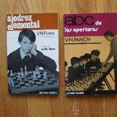 Coleccionismo deportivo: LOTE 2 LIBROS DE AJEDREZ, LEER. Lote 38871032