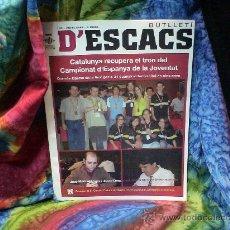 Coleccionismo deportivo: AJEDREZ. BUTLLETI D'ESCACS 128 - JULIOL 2006 DESCATALOGADO!!!. Lote 39211982