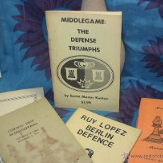 Coleccionismo deportivo: AJEDREZ. CHESS. MIDDLEGAME: THE DEFENSE TRIUMPHS - KOTKOV. Lote 98187980