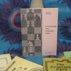 Coleccionismo deportivo: AJEDREZ. CHESS THEMES. ATTACKING THE CASTLED KING - ERIC SCHILLER DESCATALOGADO!!!. Lote 254264260